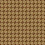 Brown Colors Art Deco Style lattice Pattern design. Original Pat Royalty Free Stock Image