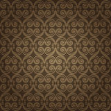 Brown Colors Art Nouveau Style Pattern design. Original Pattern Stock Images