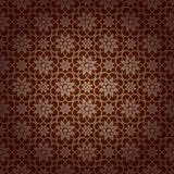 Brown Colors Asian Damask Pattern. Korean traditional Pattern De Stock Photo