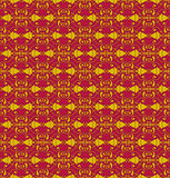 Brown Colors Flower Pattern design. Original Pattern and Symbol Royalty Free Stock Image