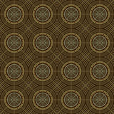 Brown Colors Round grid Pattern Stock Image