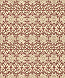 Brown Colors Round grid Pattern. Korean traditional Pattern Desi Stock Images