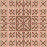 Brown Colors Square grid Pattern design. Korean traditional Patt Royalty Free Stock Images