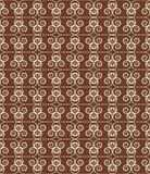 Brown Colors Wave Pattern. Korean traditional Pattern Design Ser Royalty Free Stock Photos