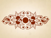 Brown colour design of floral decorated. Stock Image