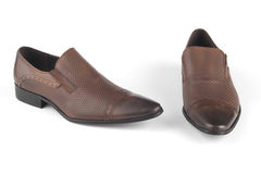 Brown colour leather shies Royalty Free Stock Photo