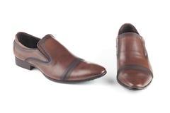 Brown colour rzemienni buty Zdjęcie Royalty Free