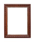 Brown com o frame de prata isolado no branco Fotos de Stock Royalty Free