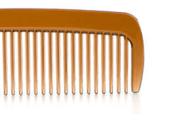 Brown comb closeup Royalty Free Stock Photos
