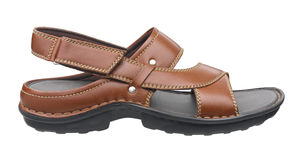Brown comfortable leather sandal Stock Images