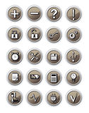 Brown  communication  icons Royalty Free Stock Photos