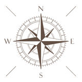 Brown Compass Stock Photography