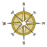 Brown compass rose Royalty Free Stock Images