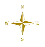 Brown compass rose Stock Images