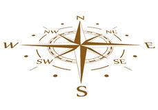 Brown compass vector compressed Royalty Free Stock Photos