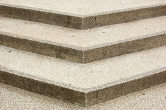 Brown concrete stairs with three steps. Royalty Free Stock Photo