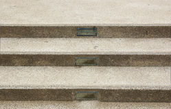 Brown concrete stairs with three steps. Royalty Free Stock Photography