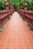 Brown concrete walkway Royalty Free Stock Photo