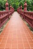 Brown concrete walkway Royalty Free Stock Photo