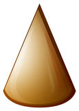 Brown cone on white Royalty Free Stock Photo