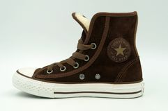 Brown Converse Wszystkie gwiazd tenisówka Obrazy Stock
