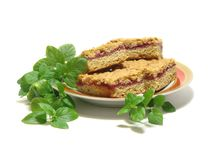 Brown Cookie Sandwich on Plate Stock Image