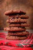 Brown cookies, close up royalty free stock image