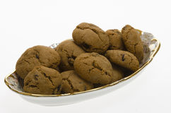 Brown Cookies with raisins Royalty Free Stock Image