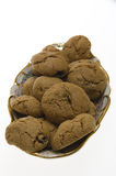 Brown Cookies with raisins Royalty Free Stock Images