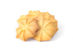 Brown cookies. On the white background Royalty Free Stock Image