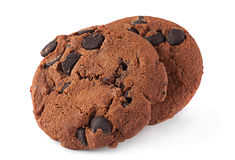 Brown cookies on white Royalty Free Stock Photos