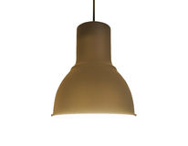 Brown Copper Ceiling Lamp on white Stock Images