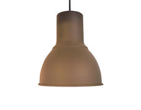 Brown Copper Ceiling Lamp on white Royalty Free Stock Photo