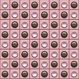 Brown cor-de-rosa Bling pontilha o fundo Fotos de Stock
