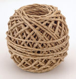 Brown cord ball. Single ball of cord Stock Images