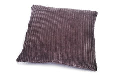 Brown corduroy cushion Stock Images