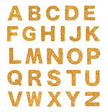 Brown cork alphabet  on white Stock Photography