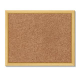 Brown cork board in a frame. Vector illustration royalty free stock photography