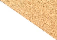 Brown cork board with white background. /wallpaper texture royalty free stock image