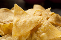 Brown Corn Tortilla Chips Stock Photography