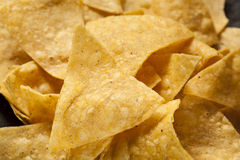 Brown Corn Tortilla Chips Stock Images