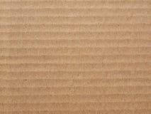 Brown corrugated cardboard background Stock Image