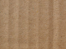 Brown corrugated cardboard background Stock Images