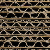 Brown corrugated cardboard Stock Image