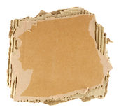 Brown corrugated cardboard sheet Royalty Free Stock Photography