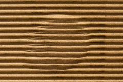 Brown corrugated cardboard texture Royalty Free Stock Photography