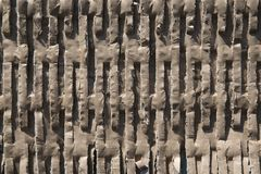 Brown corrugated cardboard texture useful as a background royalty free stock photo