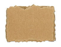 Brown corrugated cardboard torn Stock Photos