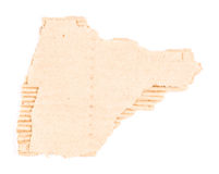 Brown corrugated cardboard torn and isolated Stock Image