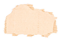 Brown corrugated cardboard torn Stock Photos